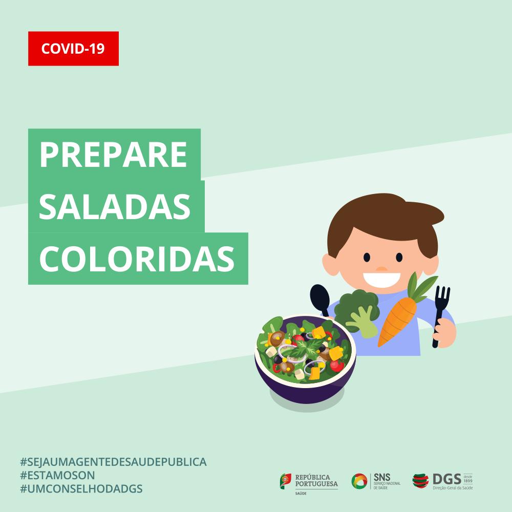 Prepare saladas coloridas
