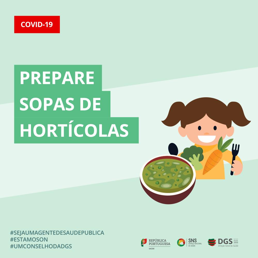 Prepare sopa de hortícolas