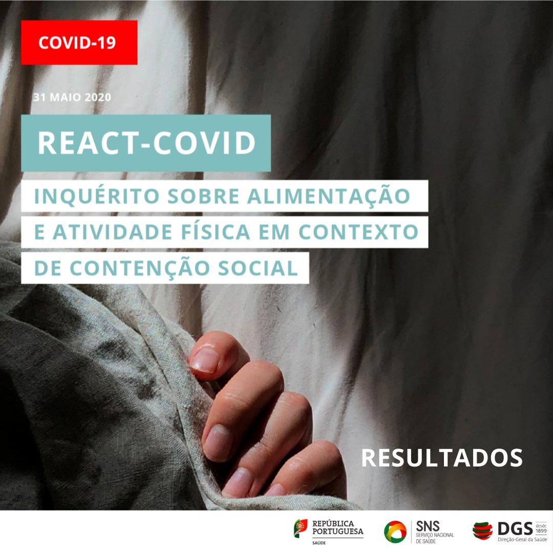 REACT-COVID | Inquérito sobre alimentação e atividade física em contexto de conteção social