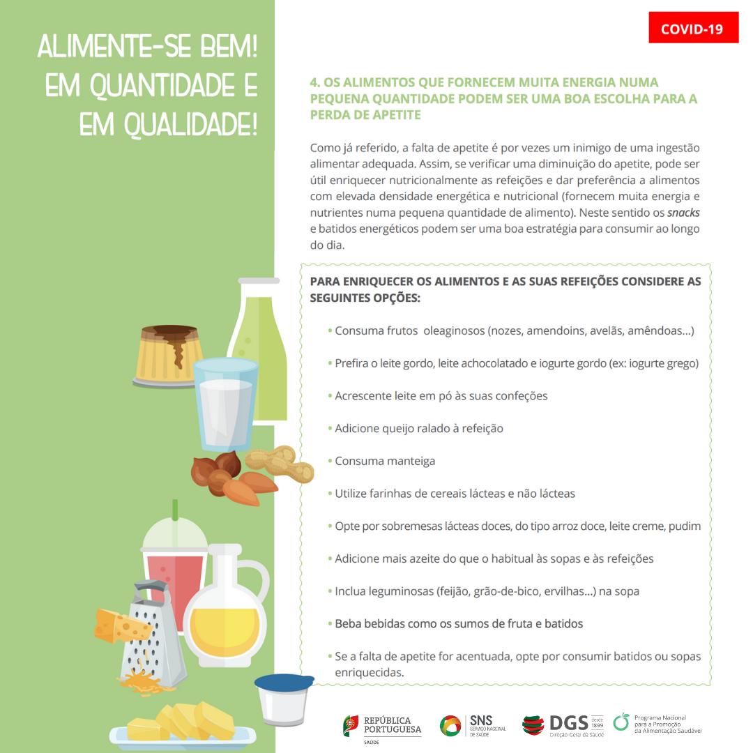 Alimentação e hidratação em doentes com COVID-19 em autocuidados 6