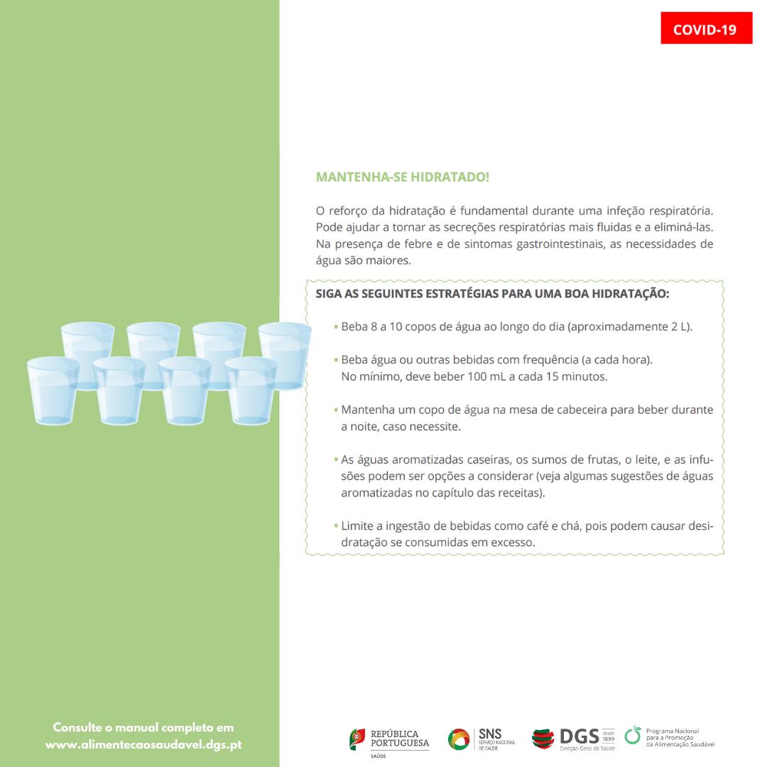 Alimentação e hidratação em doentes com COVID-19 em autocuidados 7